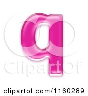 Clipart Of A 3d Pink Jelly Lowercase Alphabet Letter Q Royalty Free CGI Illustration by chrisroll