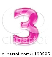 Clipart Of A 3d Pink Jelly Number 3 Royalty Free CGI Illustration by chrisroll