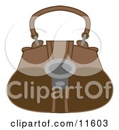 Brown Handbag Purse Clipart Picture