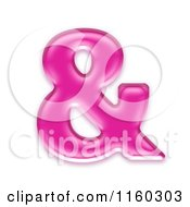 Clipart Of A 3d Pink Jelly Ampersand And Symbol Royalty Free CGI Illustration