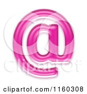 Clipart Of A 3d Pink Jelly Arobase At Email Symbol Royalty Free CGI Illustration by chrisroll