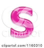 Clipart Of A 3d Pink Jelly Capital Alphabet Letter S Royalty Free CGI Illustration by chrisroll