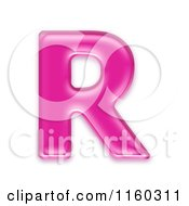 Clipart Of A 3d Pink Jelly Capital Alphabet Letter R Royalty Free CGI Illustration