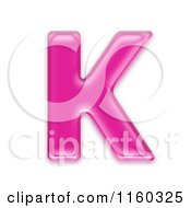 Clipart Of A 3d Pink Jelly Capital Alphabet Letter K Royalty Free CGI Illustration