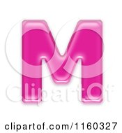 Clipart Of A 3d Pink Jelly Capital Alphabet Letter M Royalty Free CGI Illustration