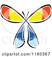 Clipart Of A Colorful Butterfly Royalty Free Vector Illustration by Vector Tradition SM