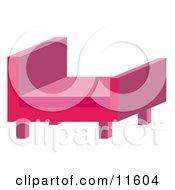 Modern Pink Chair Clipart Illustration