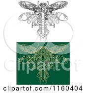 Clipart Of Dragonfly Motherboard Computer Chips Royalty Free Vector Illustration