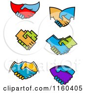 Clipart Of Handshakes Royalty Free Vector Illustration by Vector Tradition SM