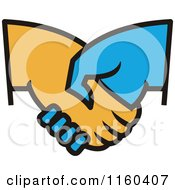 Clipart Of A Handshake Royalty Free Vector Illustration