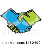 Clipart Of A Handshake Royalty Free Vector Illustration by Vector Tradition SM