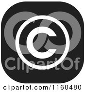 Clipart Of A Black And White Copyright Icon Royalty Free Vector Illustration by Johnny Sajem