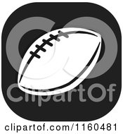 Clipart Of A Black And White Football Icon Royalty Free Vector Illustration