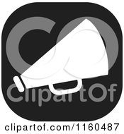 Clipart Of A Black And White Megaphone Icon Royalty Free Vector Illustration by Johnny Sajem