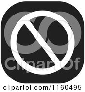 Clipart Of A Black And White Prohibited Icon Royalty Free Vector Illustration by Johnny Sajem