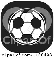 Clipart Of A Black And White Soccer Ball Icon Royalty Free Vector Illustration by Johnny Sajem