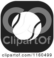Clipart Of A Black And White Tennis Ball Icon Royalty Free Vector Illustration by Johnny Sajem