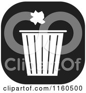 Clipart Of A Black And White Trash Icon Royalty Free Vector Illustration by Johnny Sajem