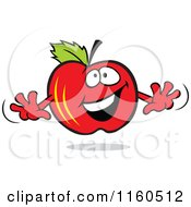 Cartoon Of A Happy Red Apple Mascot Royalty Free Vector Clipart