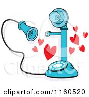 Blue Candlestick Phone With Hearts I Just Called To Say I Love You