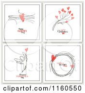 Clipart Of Happy Valentines Day Greetings With Hearts And An Angel Royalty Free Vector Illustration by elena