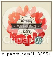 Clipart Of Happy Valentines Day I Love You Text Over Butterflies Royalty Free Vector Illustration by elena
