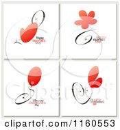 Clipart Of Happy Valentines Day Greetings With Red Items Royalty Free Vector Illustration by elena