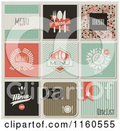 Clipart Of Retro Styled Restaurant Menu Designs Royalty Free Vector Illustration