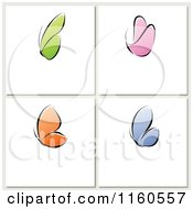 Clipart Of Tiles Of Colorful Butterflies With Copyspace Royalty Free Vector Illustration by elena