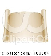 Clipart Of A Blank Open Scroll Royalty Free Vector Illustration