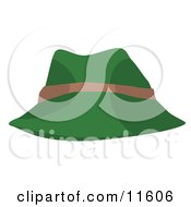 Green And Tan Hat Clipart Picture