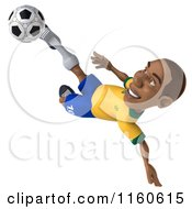 Clipart Of A 3d Brazilian Soccer Player Royalty Free CGI Illustration