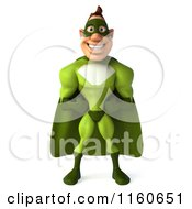 Clipart Of A 3d Super Hero Man In A Green Costume Royalty Free CGI Illustration by Julos