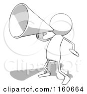 Cartoon Of A White Bob Charcater Using A Megaphone Royalty Free Illustration