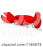 Cartoon Of A Happy Red Crab Royalty Free Clipart