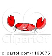 Cartoon Of A Happy Red Crab 3 Royalty Free Clipart