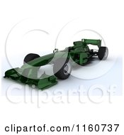 Clipart Of A 3d Green Forumula One Race Car Royalty Free CGI Illustration