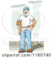 Poster, Art Print Of Happy Construction Worker Holding A Thumb Up