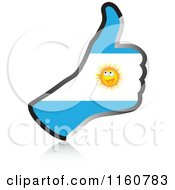 Clipart Of A Flag Of Argentina Thumb Up Hand Royalty Free Vector Illustration by Andrei Marincas