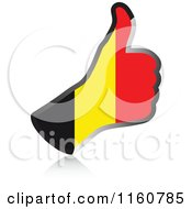 Clipart Of A Flag Of Belgium Thumb Up Hand Royalty Free Vector Illustration by Andrei Marincas