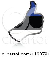 Clipart Of A Flag Of Estonia Thumb Up Hand Royalty Free Vector Illustration