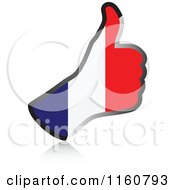 Clipart Of A Flag Of France Thumb Up Hand Royalty Free Vector Illustration by Andrei Marincas