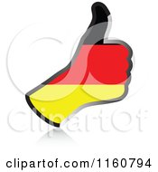 Clipart Of A Flag Of Germany Thumb Up Hand Royalty Free Vector Illustration by Andrei Marincas