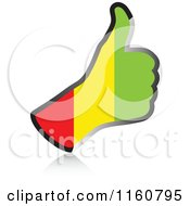 Clipart Of A Flag Of Guinea Thumb Up Hand Royalty Free Vector Illustration by Andrei Marincas