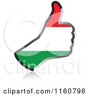 Clipart Of A Flag Of Hungary Thumb Up Hand Royalty Free Vector Illustration by Andrei Marincas