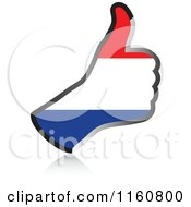 Clipart Of A Flag Of Netherlands Thumb Up Hand Royalty Free Vector Illustration by Andrei Marincas