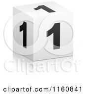 Clipart Of A 3d Black And White Number 1 Cube Royalty Free Vector Illustration by Andrei Marincas