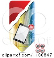 Clipart Of A Retail Tablet Banner Royalty Free Vector Illustration by Andrei Marincas