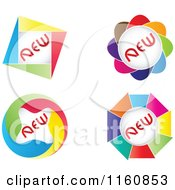 Clipart Of Colorful New Icons Royalty Free Vector Illustration by Andrei Marincas