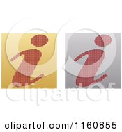 Clipart Of Gold And Silver I Icons Royalty Free Vector Illustration by Andrei Marincas